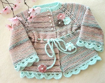 Baby Girl Jacket Crochet Baby Cardigan Knitted Baby Girl Sweater Crochet Baby Coat Knitted Baby Coat Newborn Girl Clothes Baby Girl  Gift