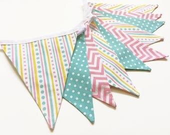 Nursery Bunting, Nursery Decor, Nursery Banner, Baby Decor, Fabric Bunting, Bunting Banner, New Baby, Baby Girl, Baby Shower, Nessa Foye