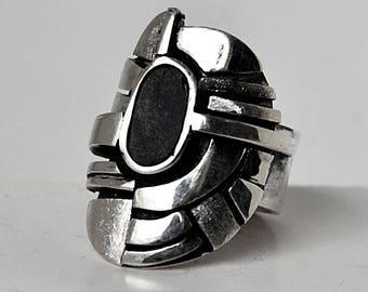 unique silver unisex ring