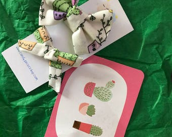 Cactus Bow Headwrap Headband in Kawaii Cactus Style & Cool Cactus Style