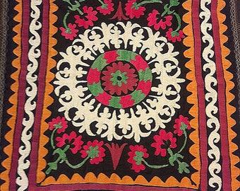 Suzani vintage .Tablecloth, Wall hanging.