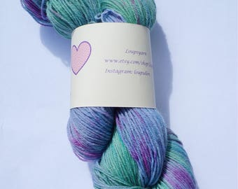Hand Dyed Yarn - Hand Dyed Sock Yarn - Superwash Merino 'Purple Haze'