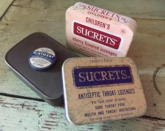 Assorted Vintage Medicine Tins