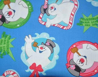 New! 1/2 Yard of Frosty the Snowman Christmas Holiday 100% Cotton Quilt Fabric by Quilting Treasures