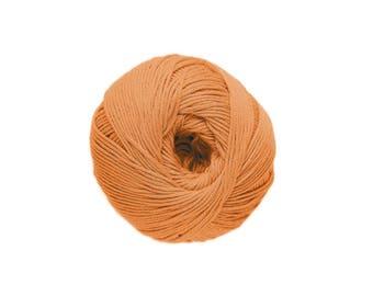 Cotton knit or crochet n ° 47 saffron Natura