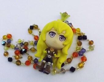 RWBY Yang Xiao Long Swarovski Crystal  necklace Anime cosplay Jewellery