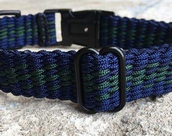 Blue Green Dog Collar