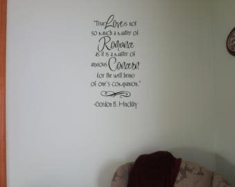 True Love Quote interior Wall decal Removable Vinyl wall decal Interior wall Decal True Love wall decal