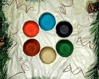 Set of 6 Holiday Colors with Holiday Scents / Custom-Made Playdough