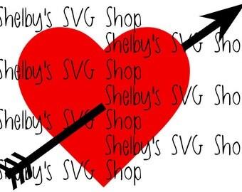 Love Arrow Heart - SVG