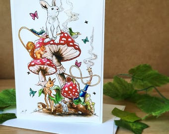 Animals in Wonderland A6 Greetings Card