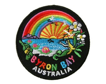 Australia Bay Embroidered Applique Iron on Patch