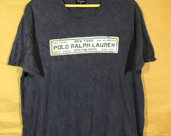 Vintage Polo Sport Ralph Lauren Auth. Agent Sporting Goods New York Plate Number Number T-shirt - Chest 23""
