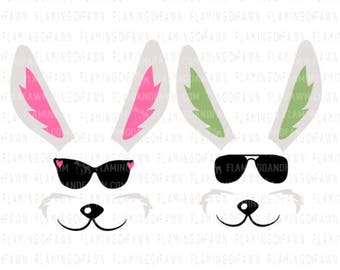 Easter bag svg bunny face svg, Easter svg, rabbit face svg, sunglasses svg, svg easter files Easter shirt svg bunny svg files Easter clipart