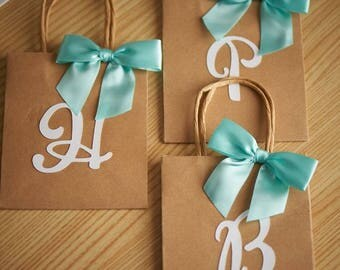 Initial party favor bags
