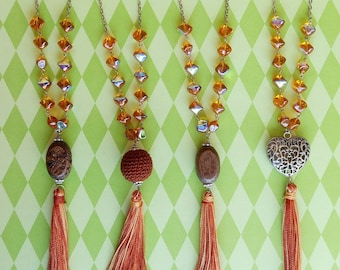 Amber necklace with Tassel