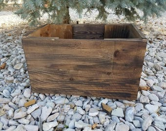 Rustic Wood Box, Wooden Box, Large Wooden Crate, Kindling Box, Utility Box, Large Storage Box, Wooden Footrest, Large Wooden Planter, Crate