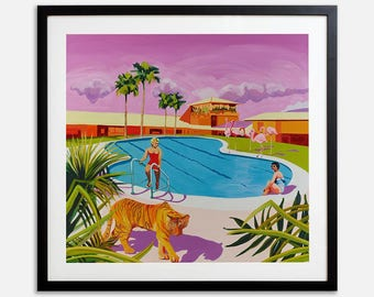 Unframed Signed Limited Edition Print 'Tiger' by Ruth Mulvie (edition of 50)