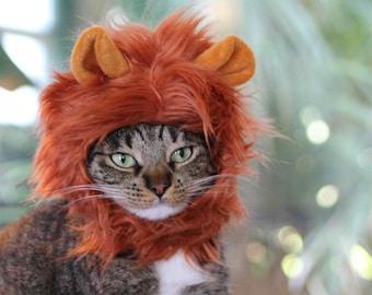 Cat Lion Mane, cat costume,cat wig,fur cat hat, fluffy cat wig