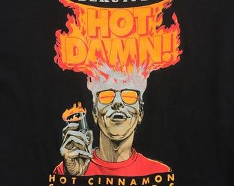 Vintage Tshirt Hot Cinnamon Schnapps FREE SHIPPING