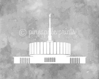 Provo Temple Watercolor Print