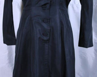 Very Conservative Black Dress made by Walton Modes Chicago 1940/1950