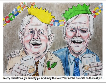 Christmas Card - Still Game - Jack and Victor