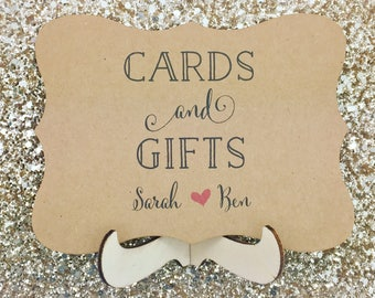 Cards & Gifts Wedding Sign Personalised