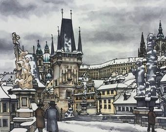 Prague, Charles Bridge Print
