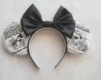 Steamboat Willie Mickey ears