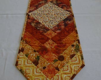 Yellow/Orange French Braid Table Runner