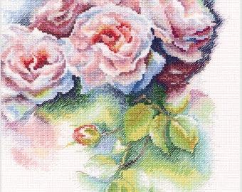 RTO COUNTED CROSS Stitch Kit - Pink bliss