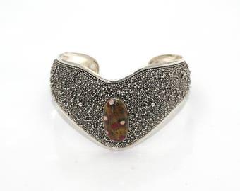 Cuff bracelet Red Circle