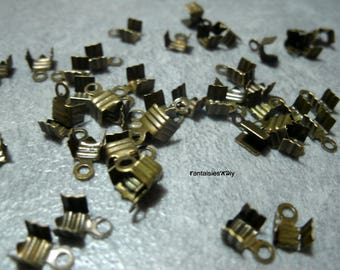 Set of 50 caps bow/greenhouse classic rectangle wire wrap SF4) bronze