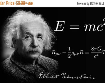Back to School Sale: Albert Einstein E=MC2 POSTER