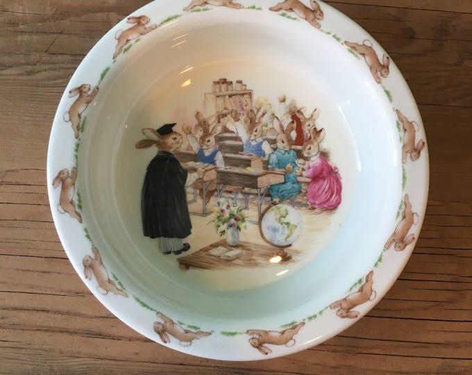 "Royal Doulton Bunnykins Deep Dish Bowl- ""Classroom"""