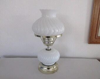 Vintage Milk Glass Accent Lamp