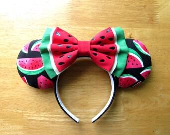 Minnie Mouse Ears - Watermelon Ears