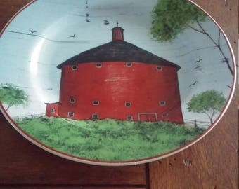 Warren Kimble Round Barn Plate