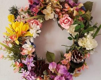 Decorative Floral Wreath Display