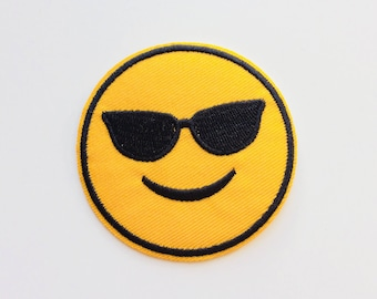 Emoji | Shades | Summer | Patches | Patch | Hipster | Trendy | Emo | DIY | Fashion | Cute | Retro