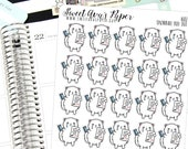 Bill Due Stickers - Credit Card Stickers - Cat Planner Stickers - Functional Stickers - Crying Planner Stickers - 1682