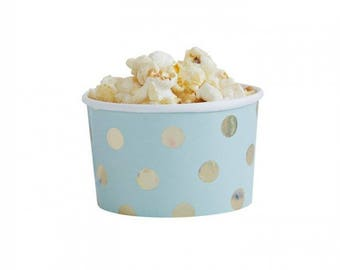 Mint and Gold Foil Party tubs - Pastel - girls party  birthday - hen party - bachelorette - pink party - baby shower - ice cream tub popcorn