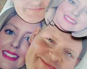 Face Cutout - photo face mask -Personalized Face Masks custom made