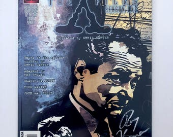 X-Files Deep Throat Comic, Signed by Writer Roy Thomas, Season One, Variant, Topps Comics, Certificate Authenticity, Hologram, Numbered