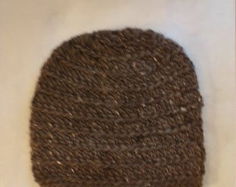 alpine wool hat in natural brown