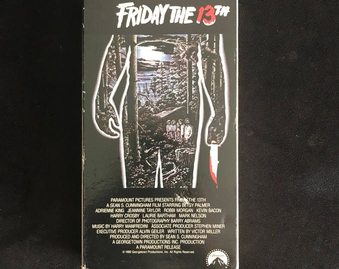 FRIDAY THE 13TH 1980 Vintage Movie VHS