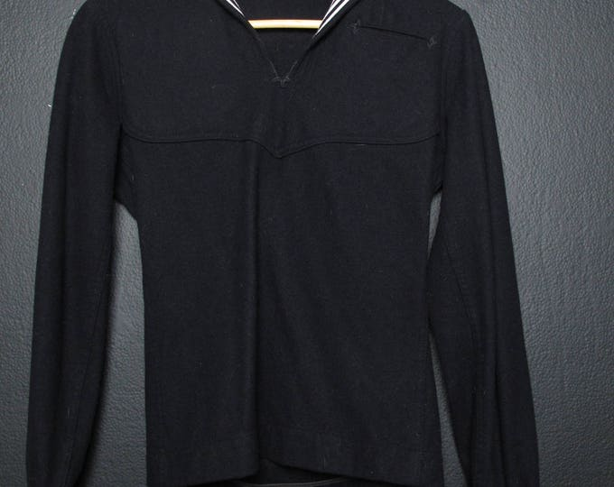 Sailor Navy wool shirt with collar