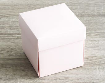 """Single Wedding Pink Cupcake Boxes, Large Favor Boxes, Party Favor Boxes, Inserts, Birthday Standard Cupcake Boxes 10 boxes 4x4x4"""""""