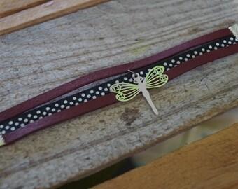 Bracelet with Burgundy dots